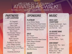 ATWATER ART WALK 2014 GRAPHICS